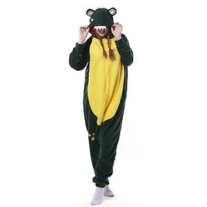 Image 2 - Kigurumi men women Anime Unisex Adult Sleepwear Crocodile Onesies Pajamas Cosplay Costume Halloween Carnival Masquerade Party