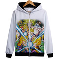 New Spring Jackets and Coats Dragon Ball Z hoodie Anime Son Goku Hooded Thick Zipper Men Women Sweatshirts White Jacket hoodies