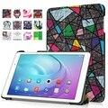 Новая Мода Pattern Ultra Slim Легкий Роскошные Фолио Стенд Кожаный Чехол Для Huawei MediaPad T2 Pro 10.0 FDR-A01W/A03L