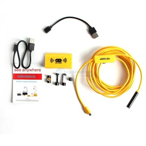 Image 5 - WIFI endoskop kamera Full HD 1200P 8mm Android iPhone yılan sert kablo kablosuz IOS su geçirmez Borescope 8 LED 2MP USB kamera