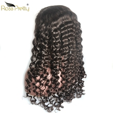 13x6 lace front wig Deep Wave Hair Lace Frontal Human Wigs Brazilian Remy Full Ross Pretty Product
