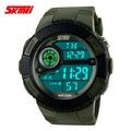 Skmei moda joven de los hombres reloj deportivo de moda casual relojes de pulsera de silicona militar digital led 50 m impermeable relojes nuevo 2016