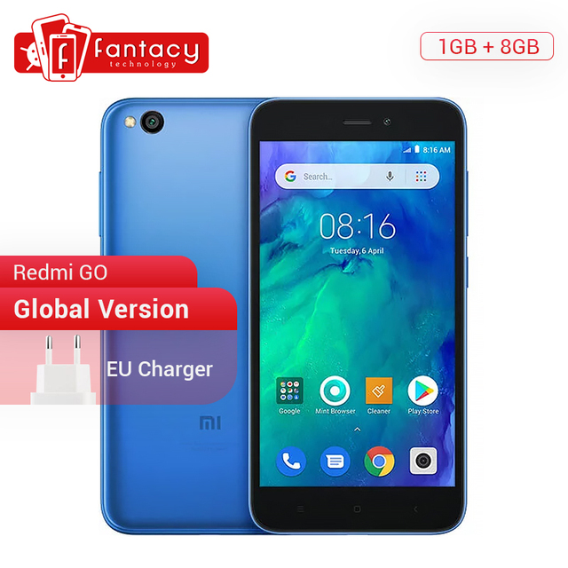 Global Version Xiaomi Redmi GO Snapdragon 425 Quad Core 1GB RAM 8GB ROM Dual SIM Cards 5.0 Inch 3000mAh Smartphone Android Go