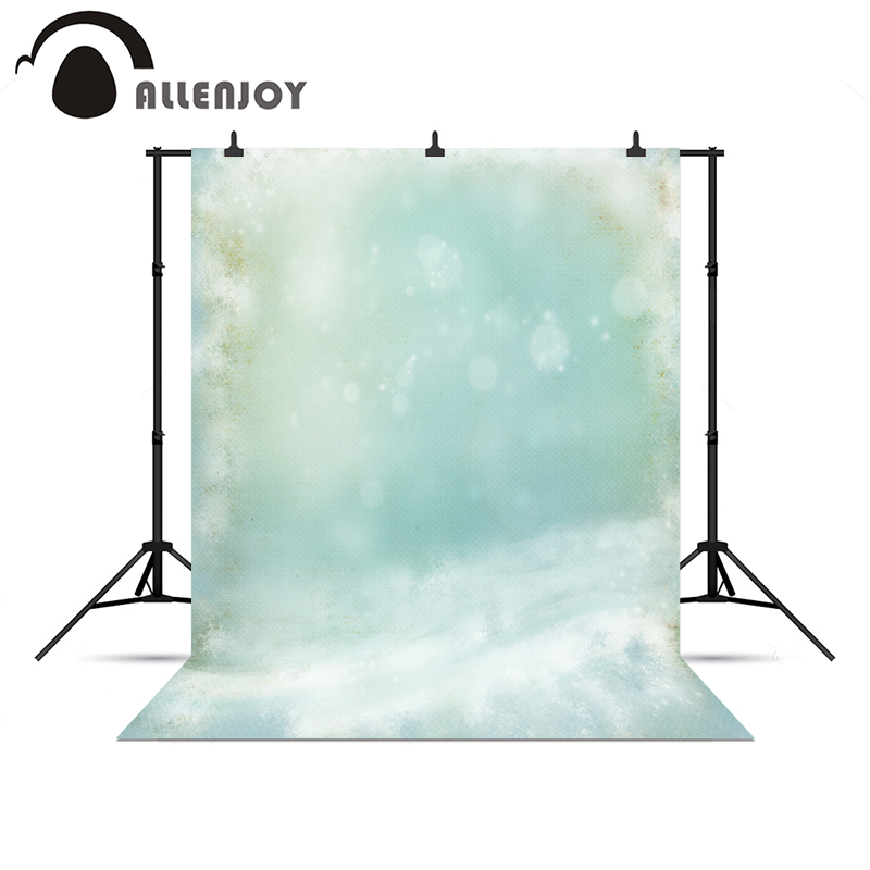 Allenjoy photographic background Blue Fantasy blur bokeh winter snow warm background vinyl photography background for photos