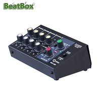 Mixing Console Ultra compact Low Noise 8 Channels Audio Sound Mixer Mono Stereo Mixer with Power Adapter Cable