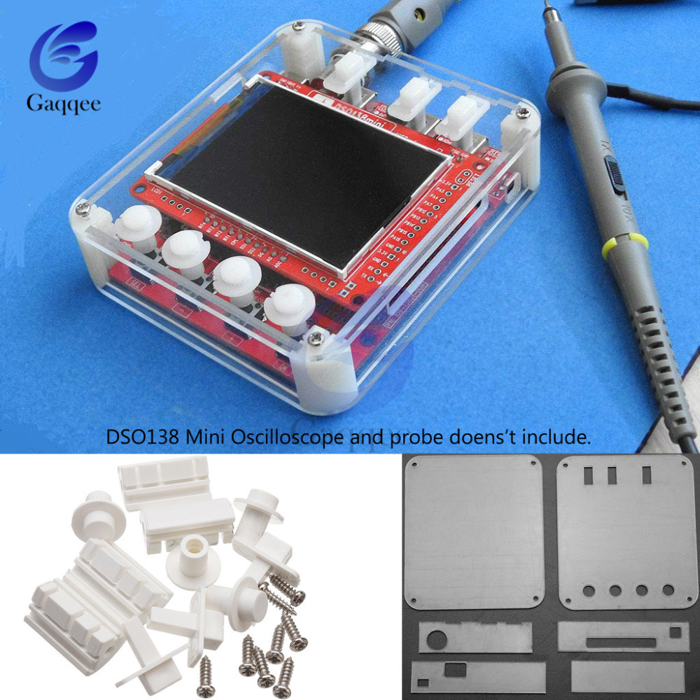 DSO138 Mini 13805K Digital Oscilloscope Acrylic Protection Case Anti Scratch Cover DSO 138 Mini Oscilloscope Transparent Shield