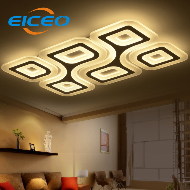 (EICEO) LED Ceiling Lamps Rectangular Ceiling Lamp Lights Lanterns Home Use  Remote Control Room