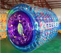 Free shipping 2.4x2.2m inflatable water walking ball water roller water toy ball pvc water game for adults and Kids Free a Pump
