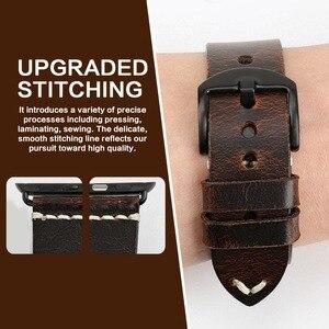 Image 4 - MAIKES שעון אביזרי אמיתי פרה עור עבור אפל שעון להקות 44mm 42mm & iwatch רצועת 40mm 38mm סדרת 4 3 2 1 צמידים