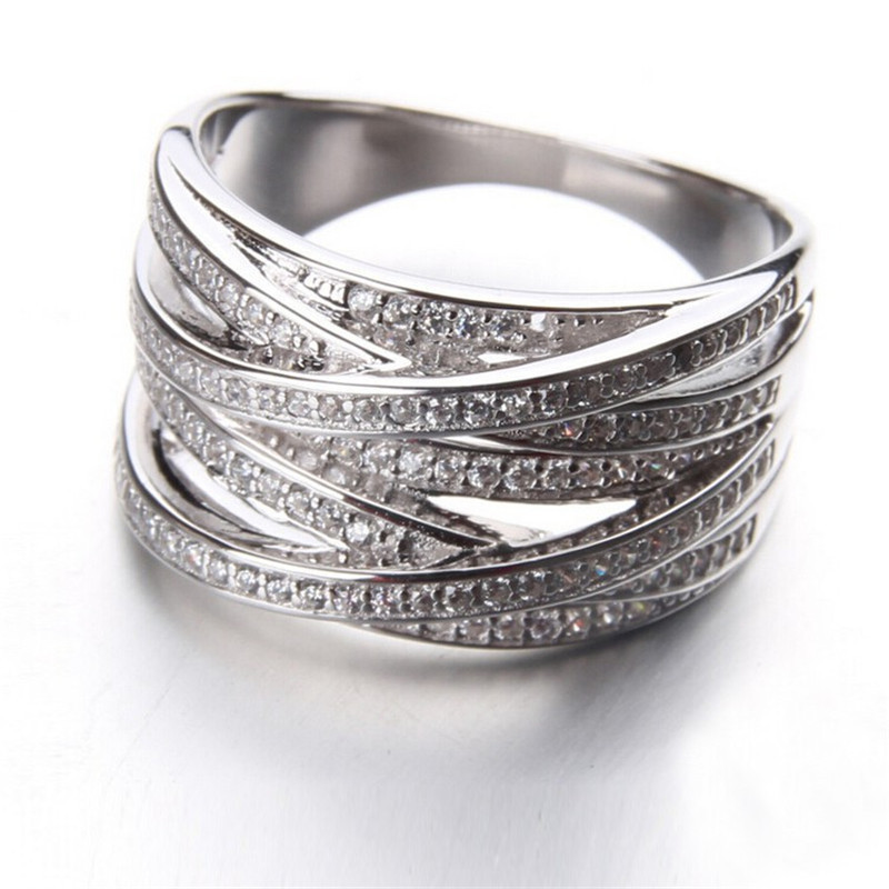 X ring knot ring top quality 925 sterling silver jewelry for Best quality wedding rings