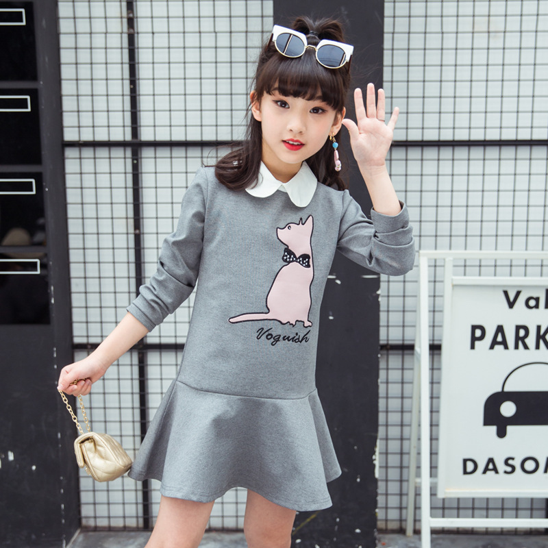 girls cartoon dress 2018 spring autumn dress little girl print clothing kids dresses size for girls 3 4 5 6 7 8 9 10 11 12 years elegant little girls dresses summer 2018 big girl dress teenage clothing kids dresses size for 3 4 5 6 7 8 9 10 11 12 years