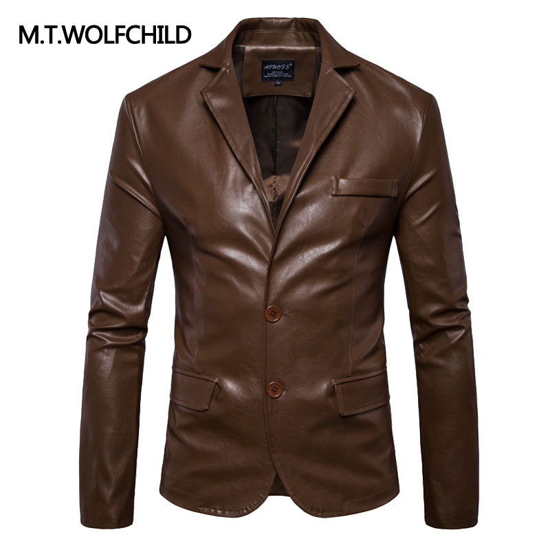 NEW 2017 Plus Size Men brand lapel motorcycle PU jackets Casual font b Men s b
