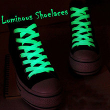Lichtgevende Schoenveters Athletic Sport Platte Canvas Elastische Schoenveters Glow In The Dark Night Kleur Fluorescerende Schoenveter Sneakers 60 Cm(China)