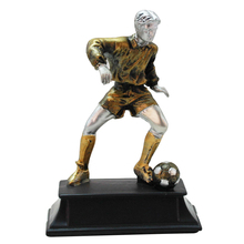 Creative Soccer Players Statue Figurines Resin Craft Office Decorative Sculpture Classic Human Model Home Decorations