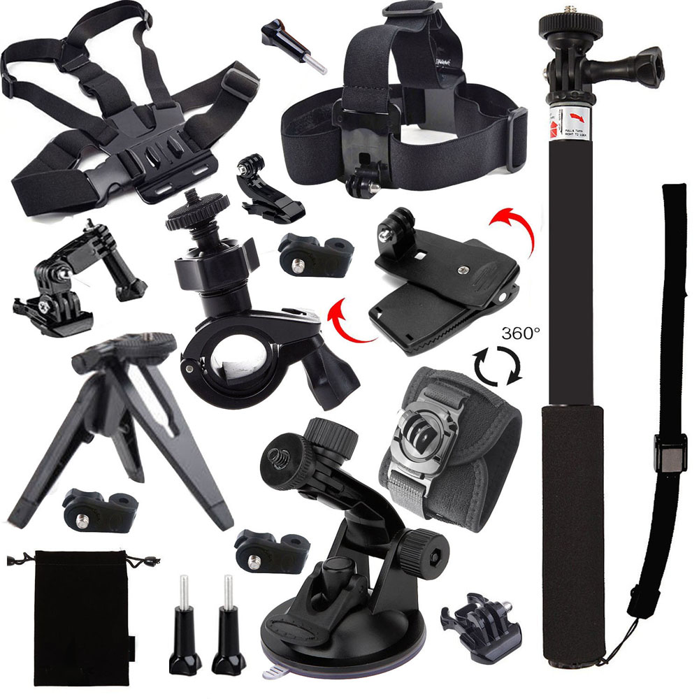 2016 Accessory Ion Pro Air Accessories Kit for Sony Action Cam AS200V FDR-X1000V W 4K HDR-AS30V AS20 HDR-AS100V HDR-AZ1 Mini