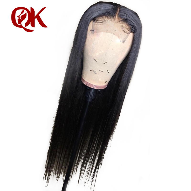 QueenKing Hair Human Hair Wigs PrePlucked For Black Women Remy Brazilian Straight Lace Front Wig With Baby Hair Bleached Knots-in Human Hair Lace Wigs from Hair Extensions & Wigs    2