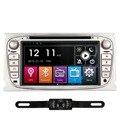 7 Pulgadas 2 din Pantalla Táctil de Coches Reproductor de DVD GPS Incorporado Radio Audio Estéreo del coche Para Ford Mondeo Focus 2008-2012 Con GPS navegación