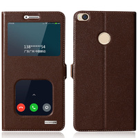 Top Quality Natural Genuine Leather Window Magnet Flip Stand Cover Case For Xiaomi Mi Max2 Mi
