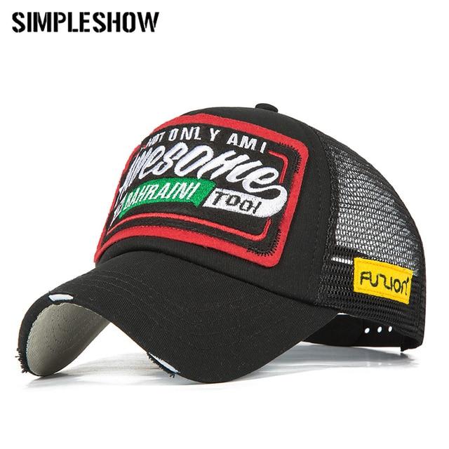 7b29c457a8b Brand Summer Baseball Cap Men Embroidery Mesh Cap Women Snapback Hats For  Men Gorras Hombre hats Dad Casquette