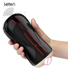 Original Leten 3 Dual Engine 10 Modes Vibration Electric buttock Male Masturbator smart female moaning , Men Artificial Vagina