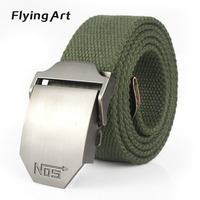 NOS Hot Men Tactical Equipment With Thick Canvas Belt Fashion Classic Cowboy Outdoor Lengthening Belt For