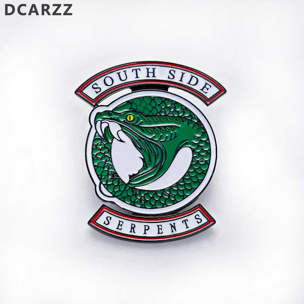 Riverdale South Side Serpents Enamel Pin Snake Metal Brooch Pins Christmas Pin Badge Riverdale Season 3 Jughead Cosplay Jewelry