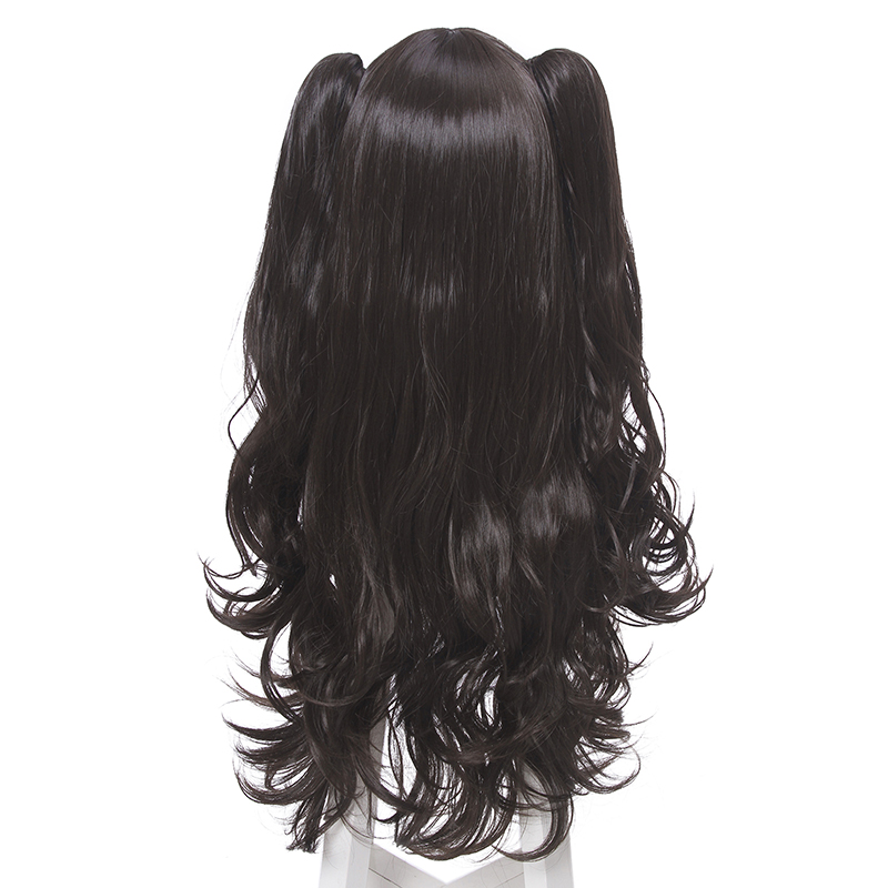 Image 4 - L email wig Game Fate/Stay Night Rin Tohsaka Cosplay Wigs Long Wavy Heat Resistant Synthetic Hair Perucas Cosplay Wig-in Synthetic None-Lace  Wigs from Hair Extensions & Wigs