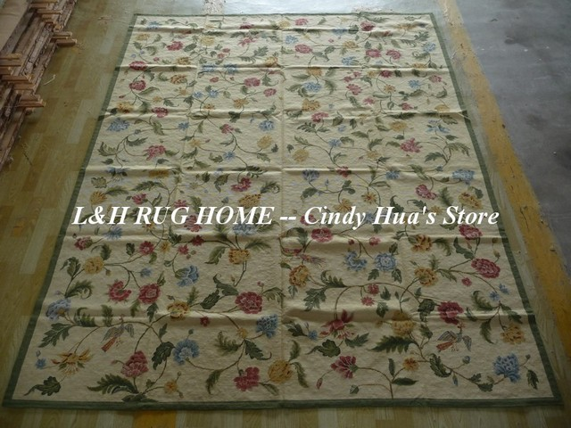 Free Shipping 8u0027X10u0027 Antique Hand Stitched Needlepoint Rugs, Handmade Wool  Rugs Wholesale