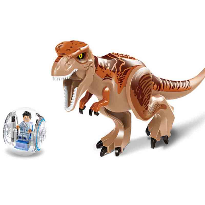 Original Jurassic World Tyrannosaurus Building Blocks Jurrassic Park 4 Dinosaur Figures Bricks Toys Compatible with bricks
