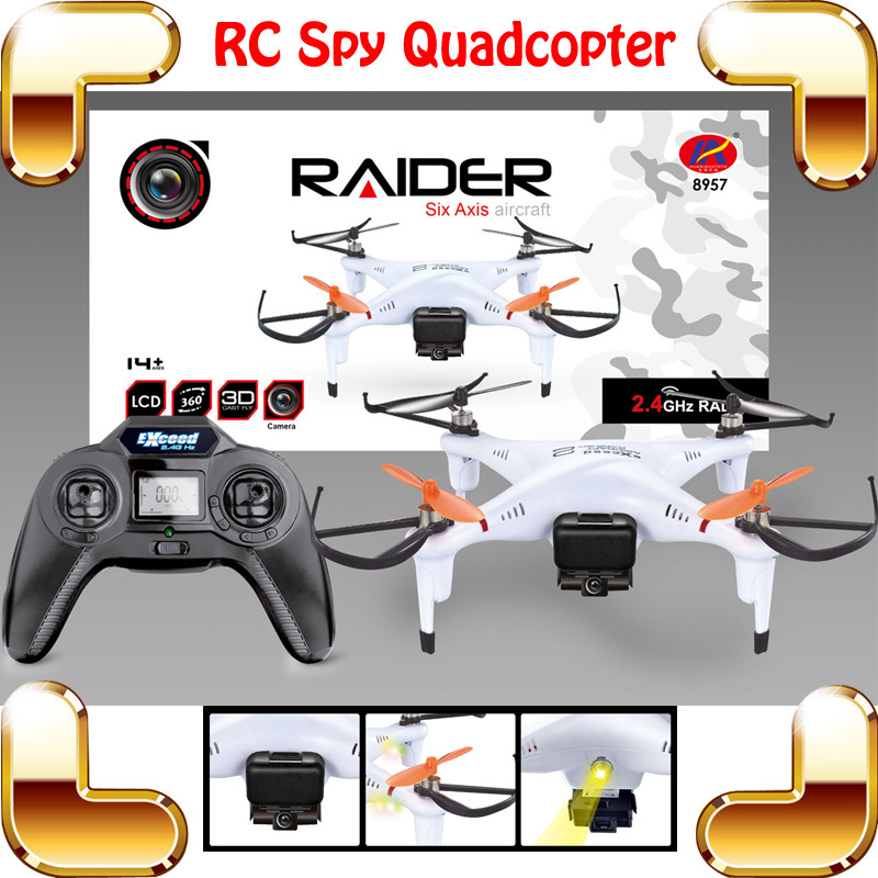 ФОТО New Coming Gift Raider 2.4G 4CH RC Remote Control Quadcopter 6 Axis Gyro Stunt Aircraft Electric Helicopter Radio Toy Camera