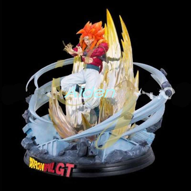 """15 """"Estátua de DRAGON BALL Super Saiyan Gogeta Full-Length Retrato do Busto Amigo Son Goku Vegeta Ação GK Figura CAIXA de brinquedos 37 CM Z565"""