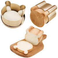 Delfenfen 3PCS/Set Bear Cookies Cake Mould Bread Mold Baking & Pastry Tools Carbon steel Cake Roll Inserts home bakeware maker