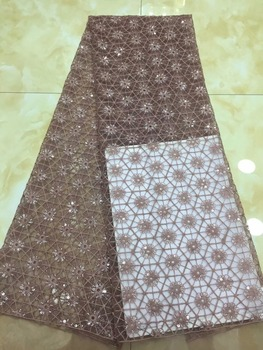 Wholesale new arrival african sequins fabric, high quality sequins fabric sewing nigerian aso ebi