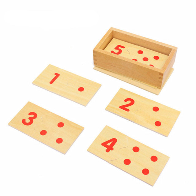 Wooden Montessori Math Toy Number Board Box Montessori Materials Early Learning Educational Toys For Children YA3064H