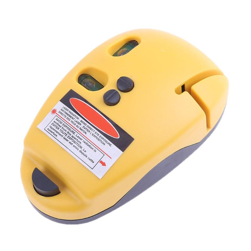 Laser Level Construction Marker Tool with Fastening Pin Measuring Vertical Horizon Infrared Spirit Mouse Shape Suport Tripod