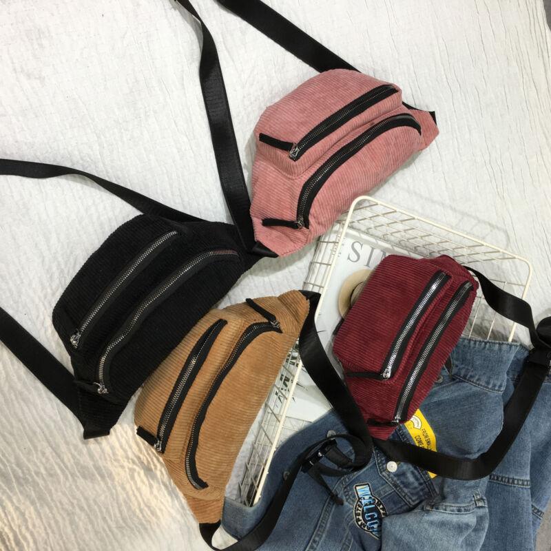 Fashion Waist Fanny Pack Women Solid Belt Zipper Waist Bag Chest Tote Purse Bags Black Brown Pink Wine Red