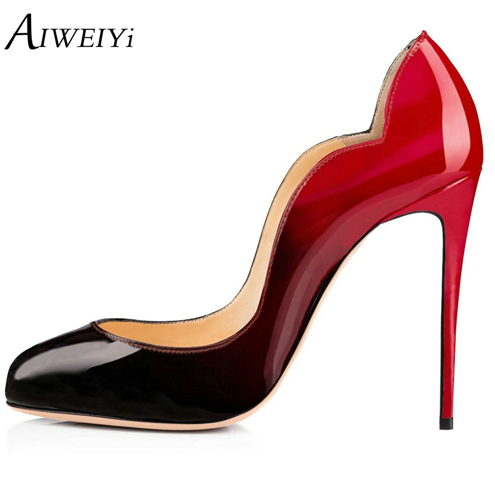 AIWEIYi 2017 Fashion Stiletto High Heels Round Toe Slip On High Heels Platform Pumps Shoes Sexy Ladies Wedding Party Pump Shoes cicime women s heels thin heel spikes heels solid slip on wedding fashion leisure casual party dressing high heel platform pumps