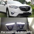 Для Mazda CX-5 CX 5 2012 2013 отлично дневной ходовой огонь ультра-яркие из светодиодов освещения покрытие кадра DRL из светодиодов свет