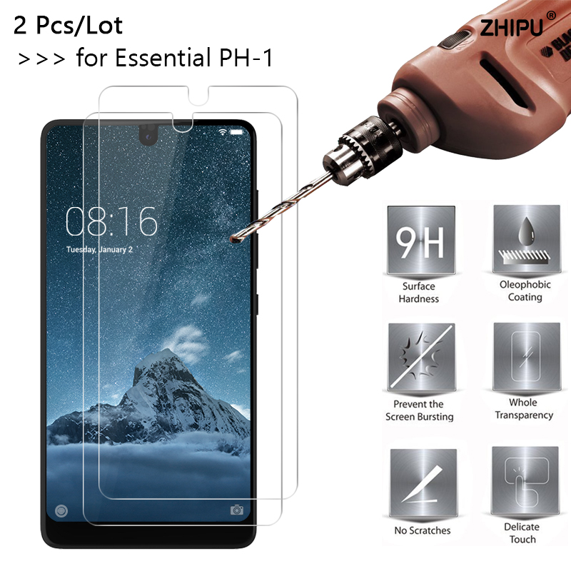 2 Pcs/Lot 2.5D 9H Tempered Glass For Essential Phone PH-1 Front  Screen Protector protective film For Essential Phone PH-12 Pcs/Lot 2.5D 9H Tempered Glass For Essential Phone PH-1 Front  Screen Protector protective film For Essential Phone PH-1
