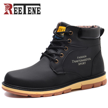 Reetene Men Winter Boots Warm Comfortable Working Safety 2017 Winter Men Shoes High Quality Autumn Boots Men