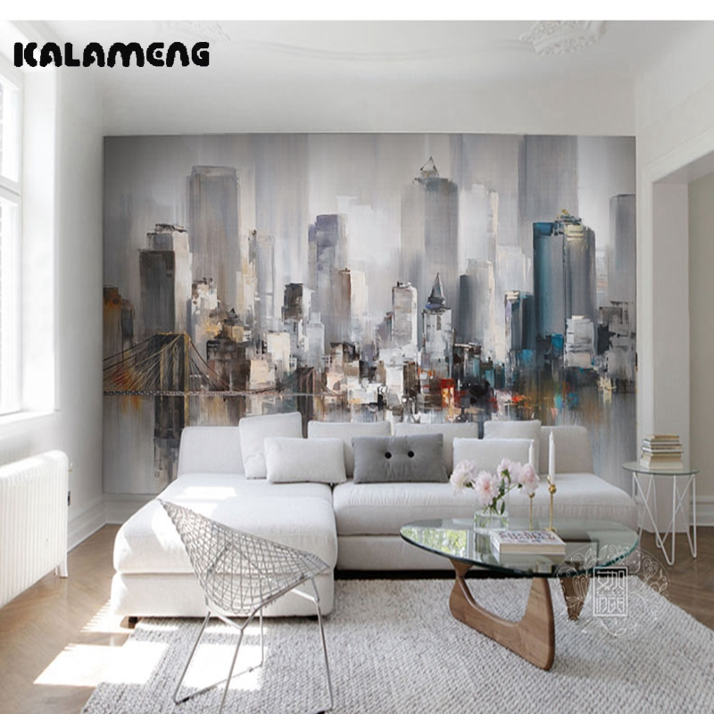 KALAMENG Custom Modern Luxury Photo Wall Mural 3D Wallpaper Papel De Parede Living Room Tv Backdrop Wall Paper Of Abstract City custom environmental 3d stereoscopic large mural wallpaper fabric wall paper living room tv backdrop of the sea smooth sailing