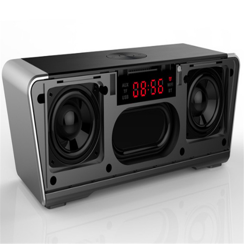 20W Powerful Bluetooth Clock Speaker Amplifier HIFI Stereo Sub Woofer Acoustic System Home Music Column for Computer Wired