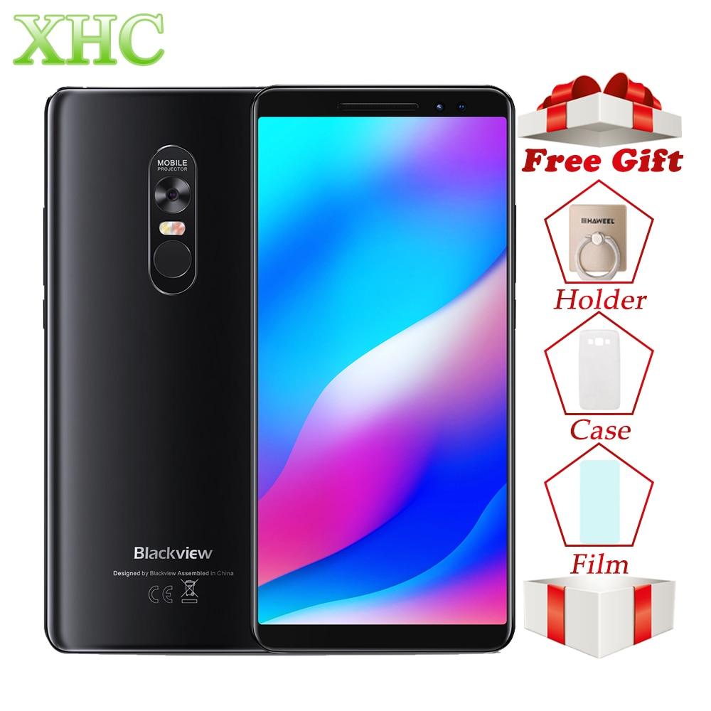 Blackview MAX 1 Projector Mobile Phone 4680mAh Big Battery Android 8.1 6.01inch 6GB 64GB MT6763T Octa Core Dual SIM Smartphone