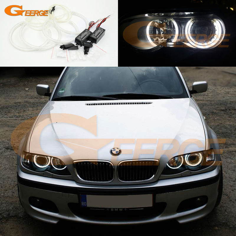 for bmw e46 m3 with factory equipped hid xenon headlights excellent ccfl angel eyes kit ultra. Black Bedroom Furniture Sets. Home Design Ideas
