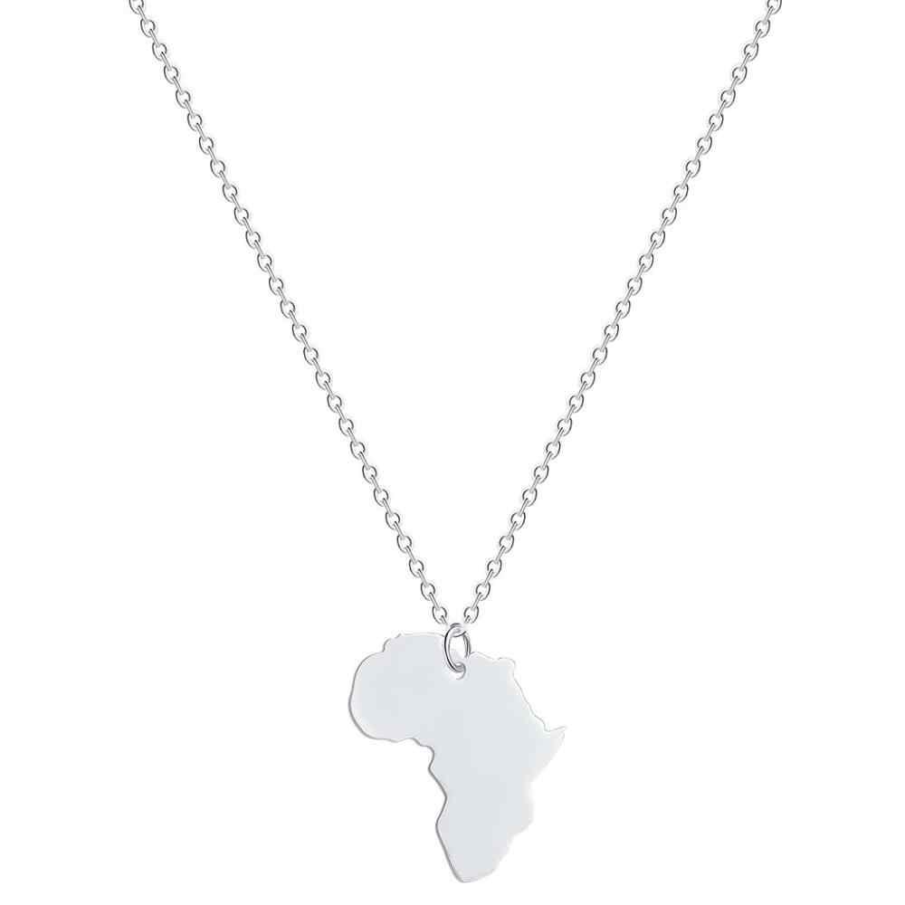 Todorova אפריקה מפת תליון שרשרת לנשים גברים האתיופית תכשיטים סיטונאי מפת עולם העולם אפריקאי מפת שרשרת Hiphop פריט