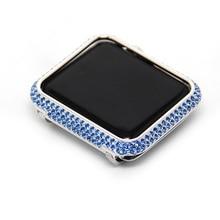 For Apple Watch Case 38mm, Aluminum Hard Diamond Protector Watch Case Cover for Apple Watch Series 3/2/1
