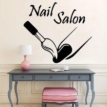Creativo de salón de uñas, manicura, etiqueta de la pared de vinilo decoración para dormitorio salón de belleza decoración Etiqueta de papel pintado removible