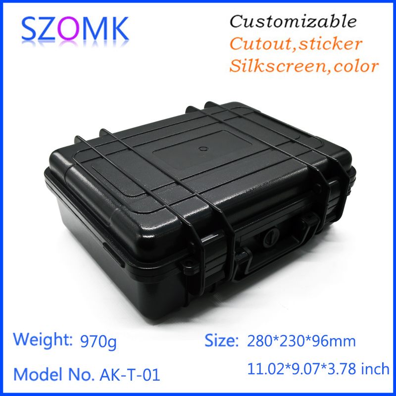 szomk plastic sealed waterproof tool box case with foma ip 68 protect enclosure box abs plastic housing case for electronics waterproof box abs switch box plastic box electronics 200 200 95mm ip66 ds ag 2020 s