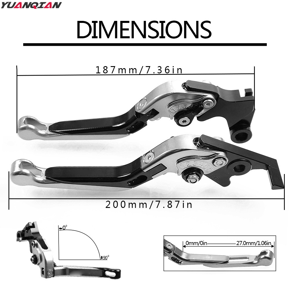 Image 5 - For YAMAHA V MAX V MAX VMAX 2009 2010 2016 Motorcycle Adjustable Foldable Extending Brake Clutch Lever Handle Grips Handlebars-in Covers & Ornamental Mouldings from Automobiles & Motorcycles