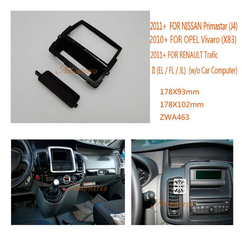 Double Din Car Radio fascia For NISSAN Primastar (J4) 2011+ ,OPEL Vivaro (X83) 2010+,RENAULT Trafic DVD Refitting Frame Dash Kit 2017 newest geeetech aluminum 3d printer diy kit support 5 filament 1 75mm 0 3mm 0 35mm